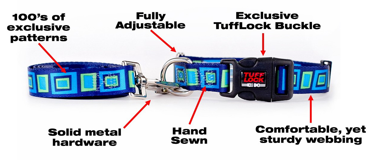 Premium Tufflock Dog Collars, Cat Collars