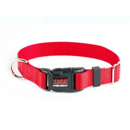 Premium TuffLock - Plastic Buckle Dog Collar - 04001.RED.MAIN_resize