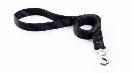6' black leash -tufflock