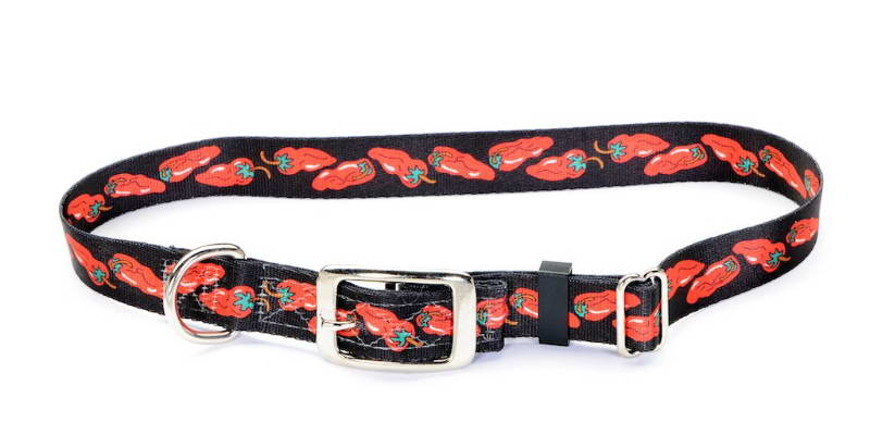 Dog Collar With Chili Peppers