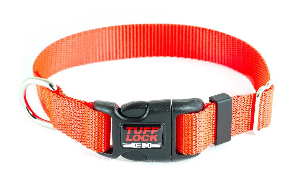 Premium TuffLock - Plastic Buckle Dog Collar - orange